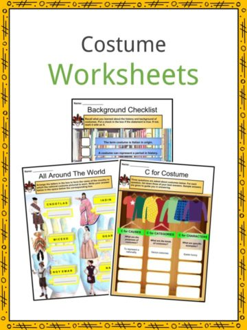 Costume Worksheets