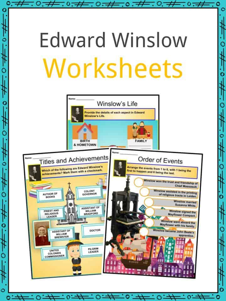 Edward Winslow Worksheets