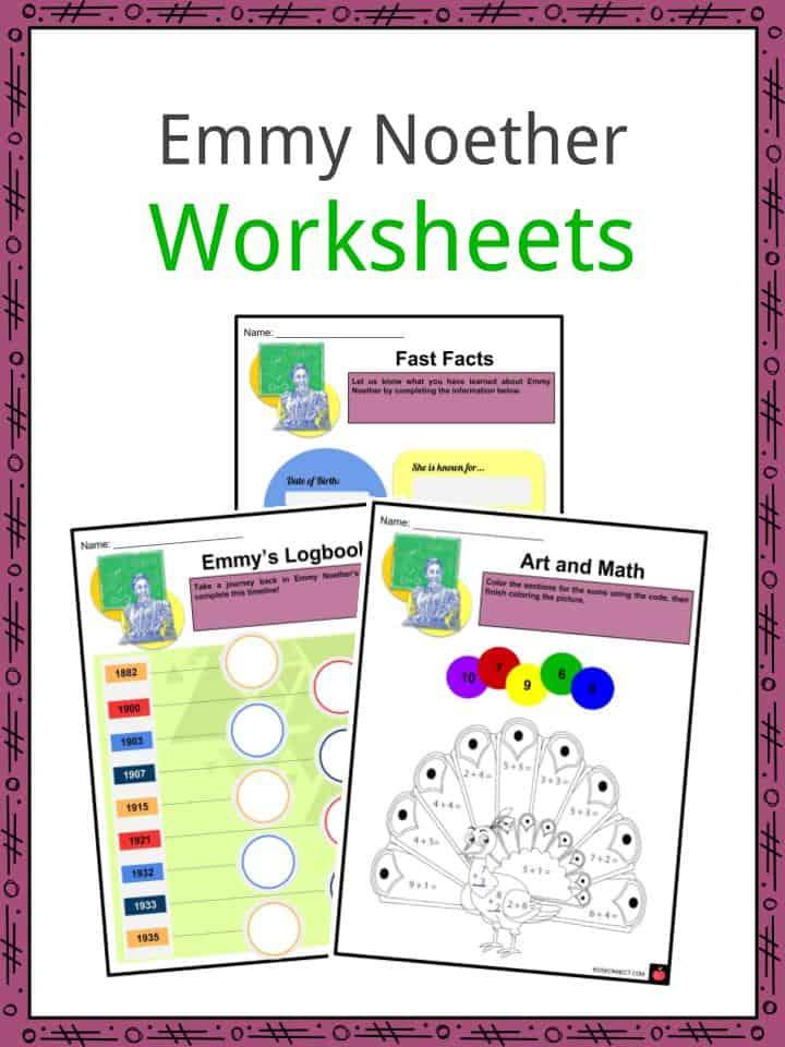 Emmy Noether Worksheets