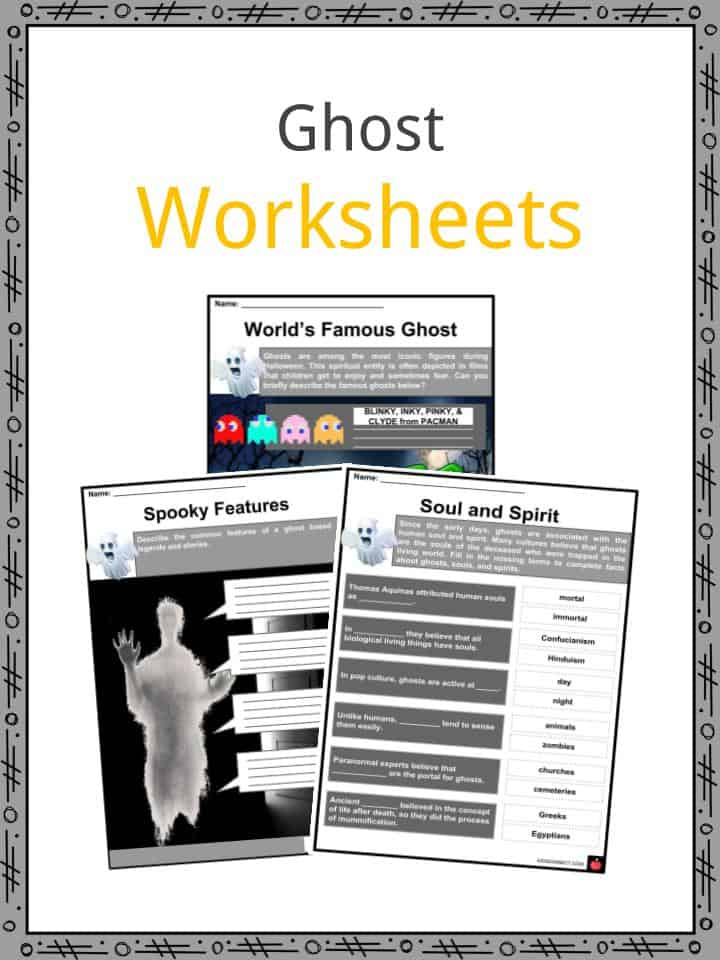 Ghost Worksheets