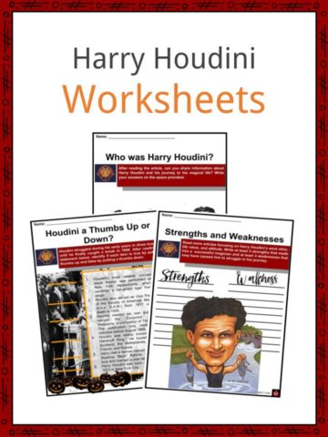 Harry Houdini Worksheets