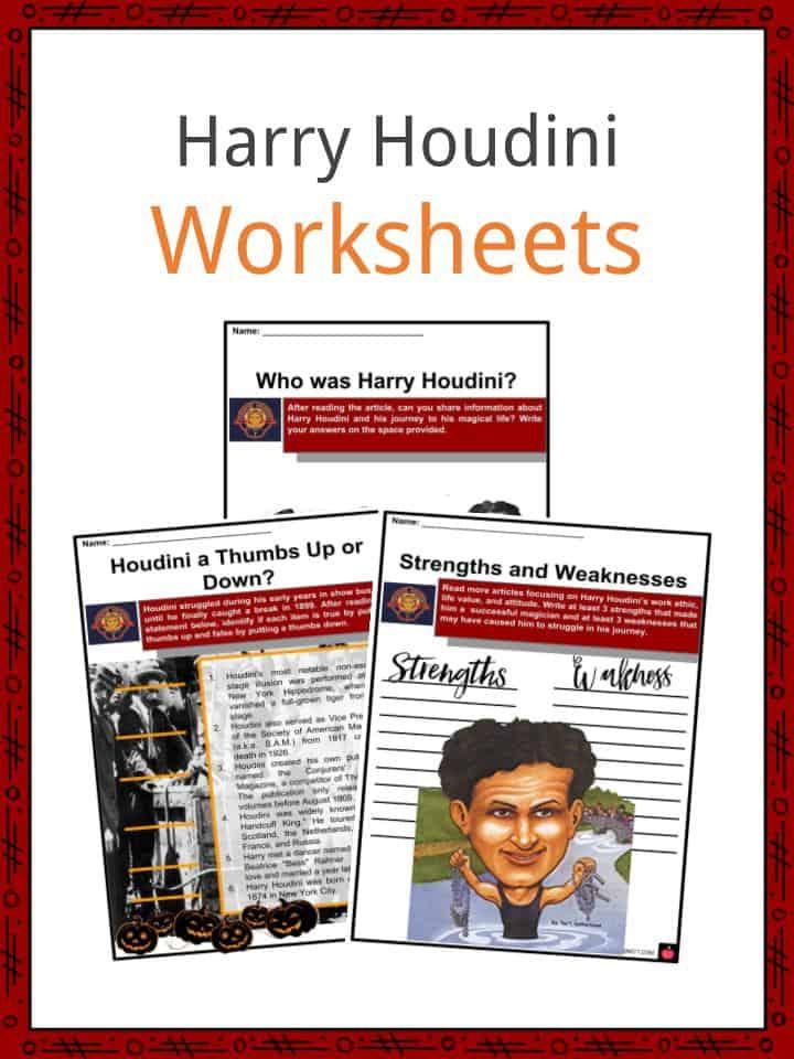 Harry Houdini Worksheets