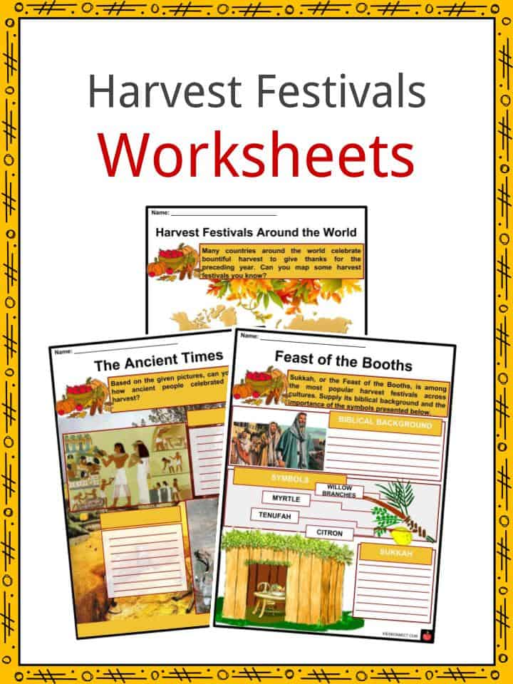 Harvest Festivals Worksheets