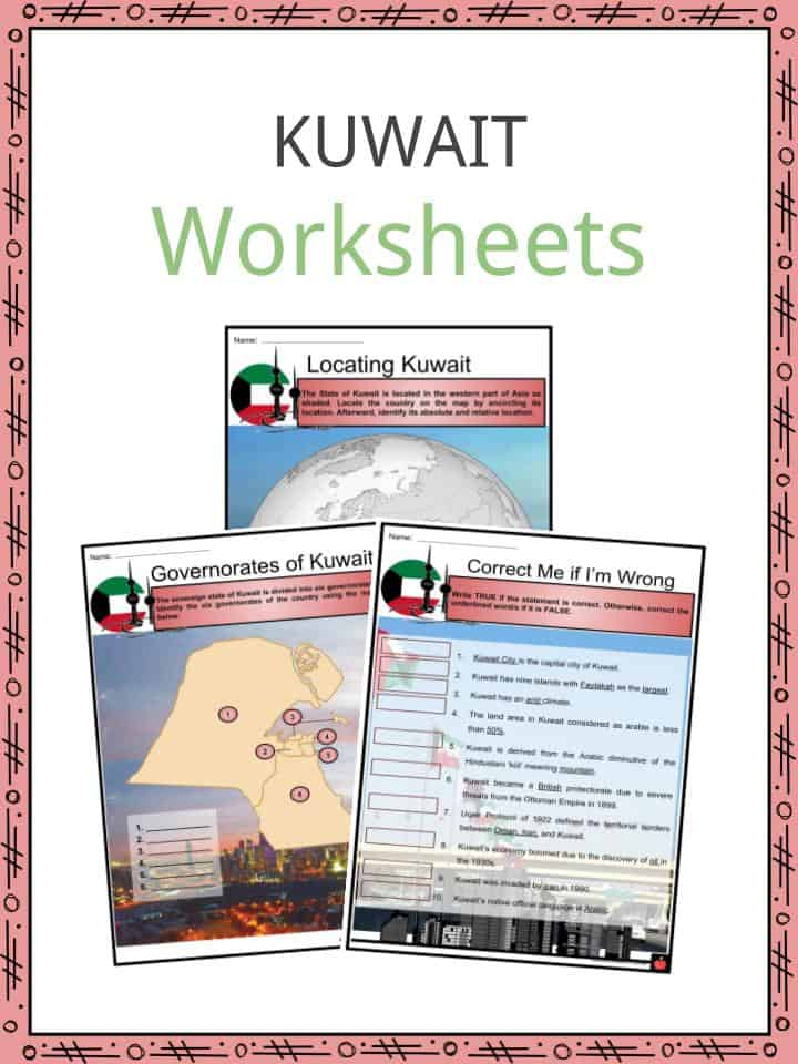 Kuwait Worksheets