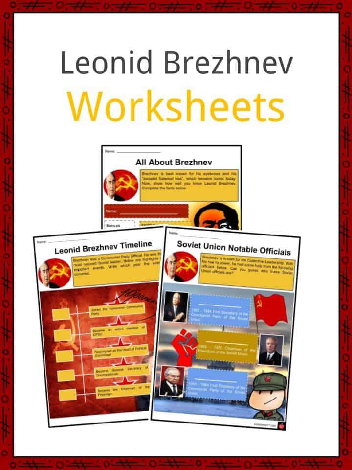 Leonid Brezhnev Worksheets