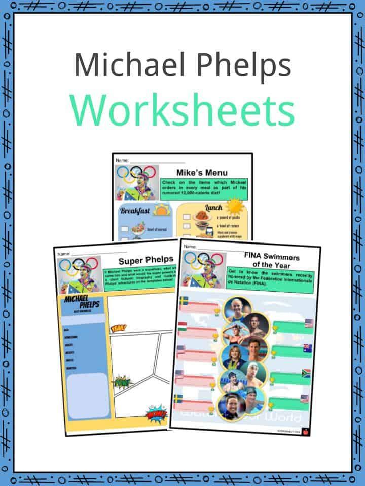 Michael Phelps Worksheets