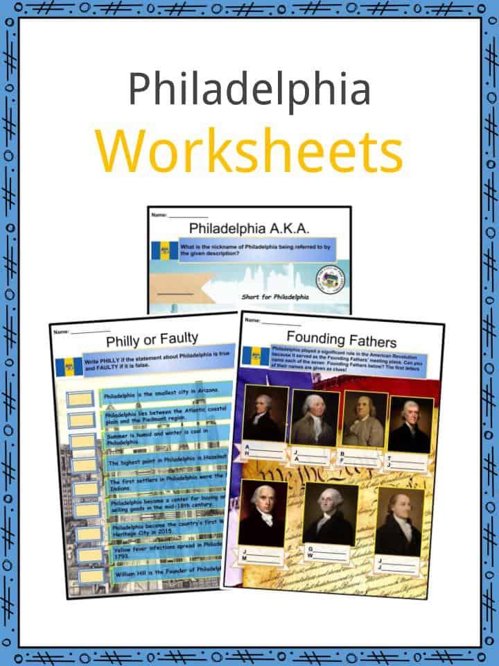 Philadelphia Worksheets