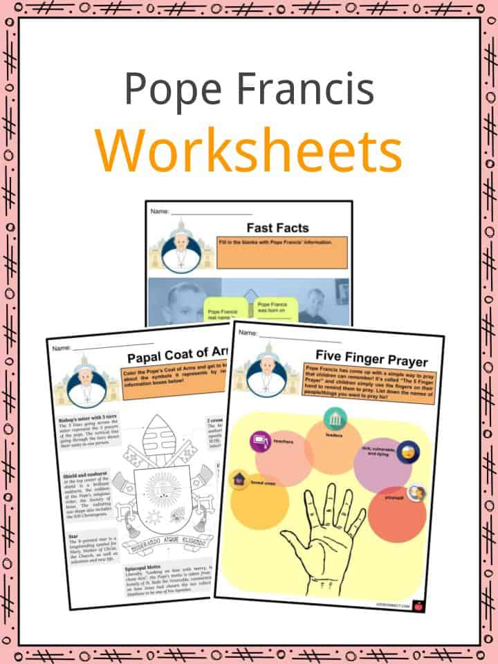 Pope Francis Worksheets