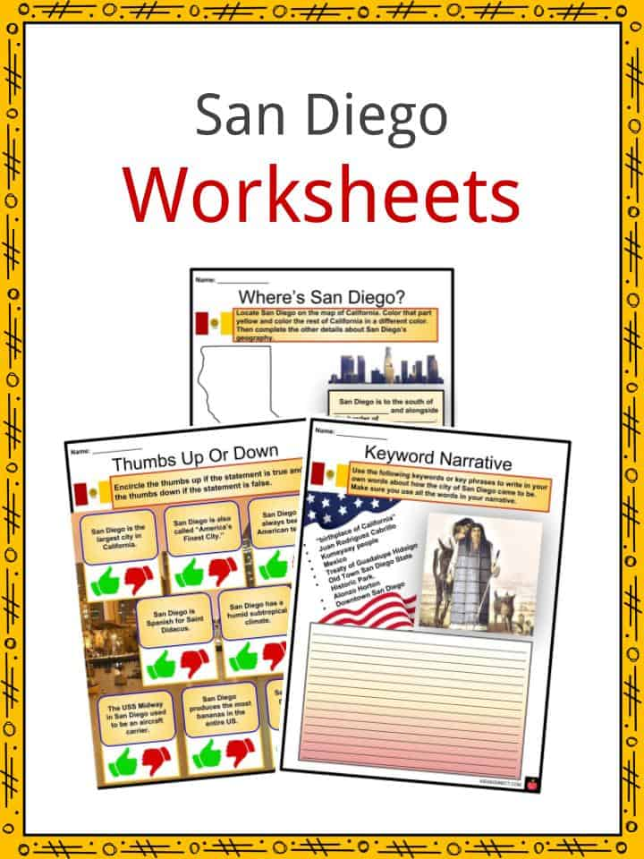San Diego Worksheets
