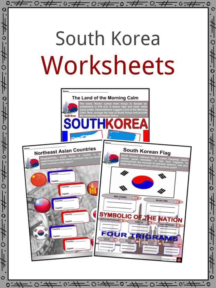 South Korea Worksheets