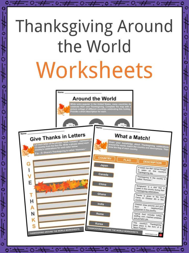 Thanksgiving Around the World Worksheets