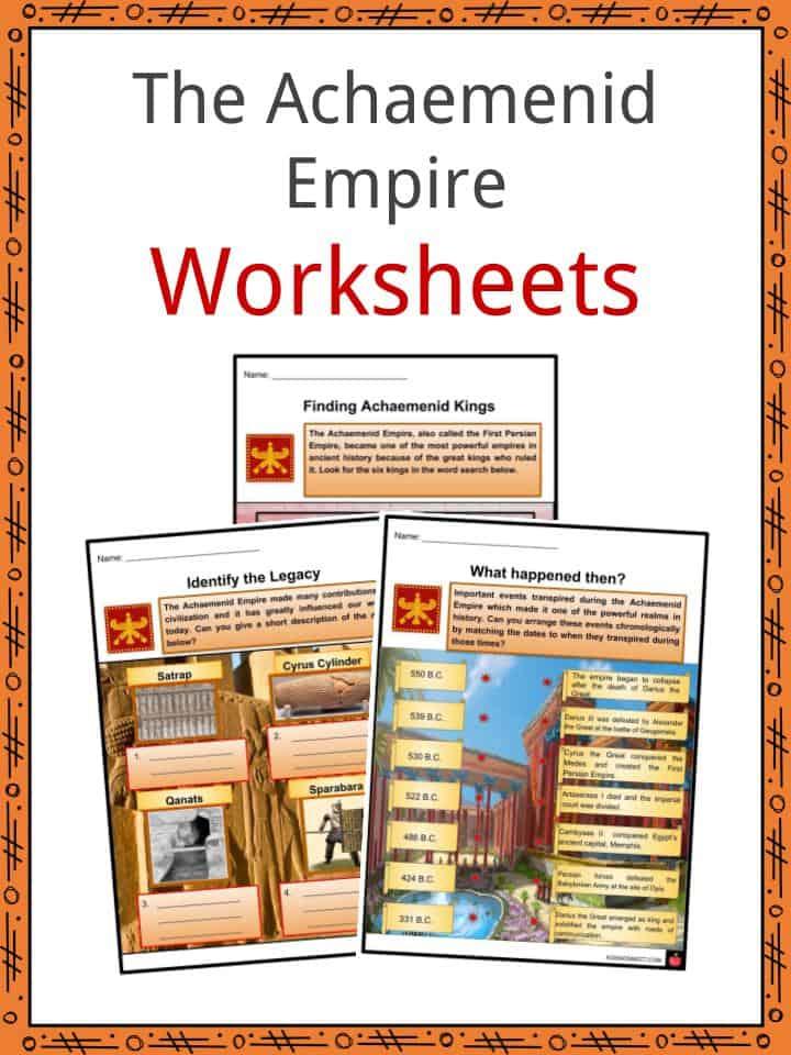 The Achaemenid Empire Worksheets