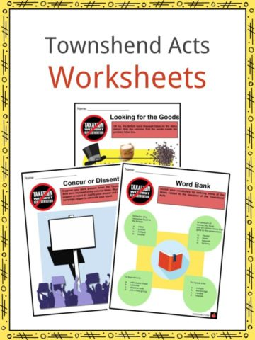 Townshend Acts Worksheets