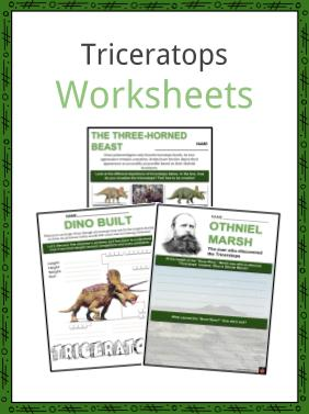 Triceratops Worksheets