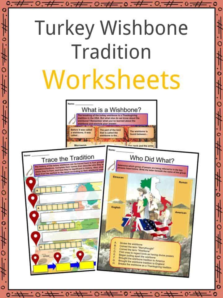 Turkey Wishbone Worksheets