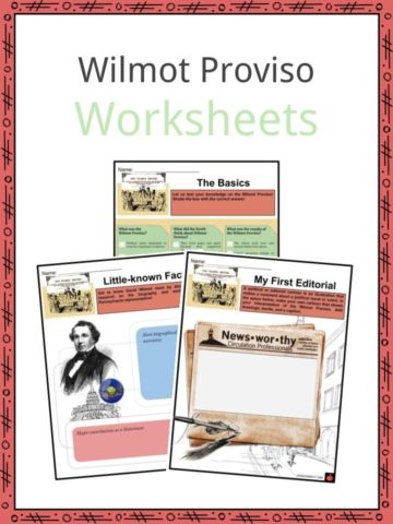 Wilmot Proviso Worksheets