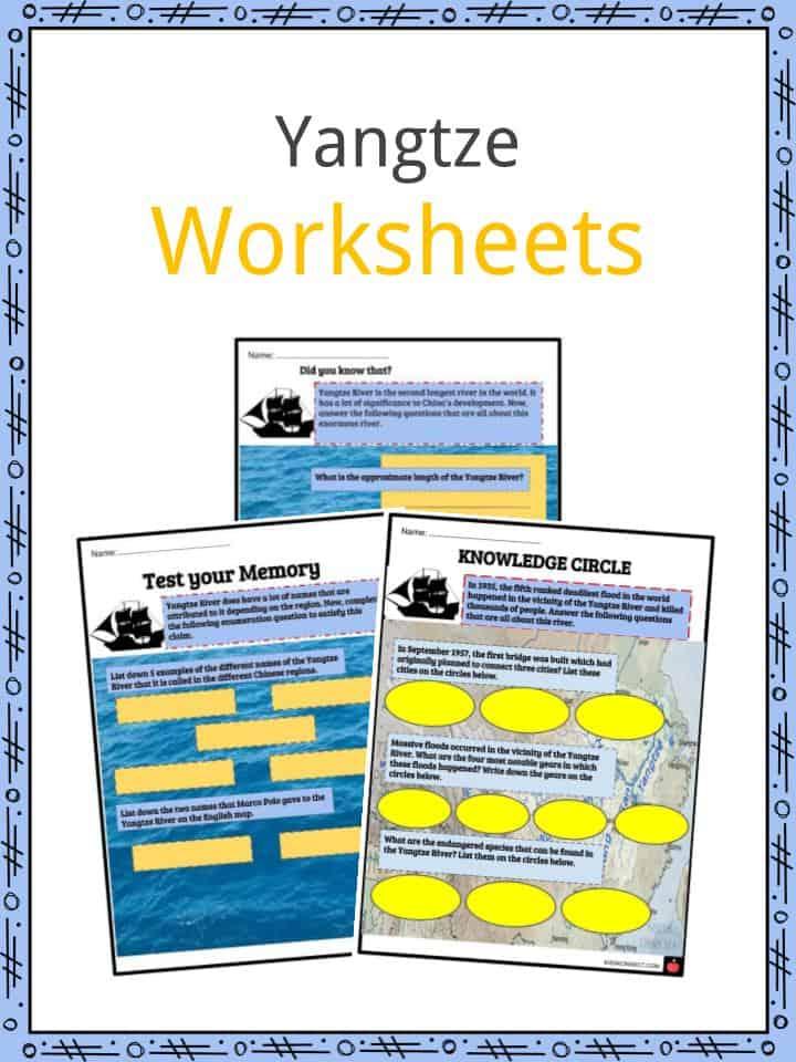 Yangtze Worksheets