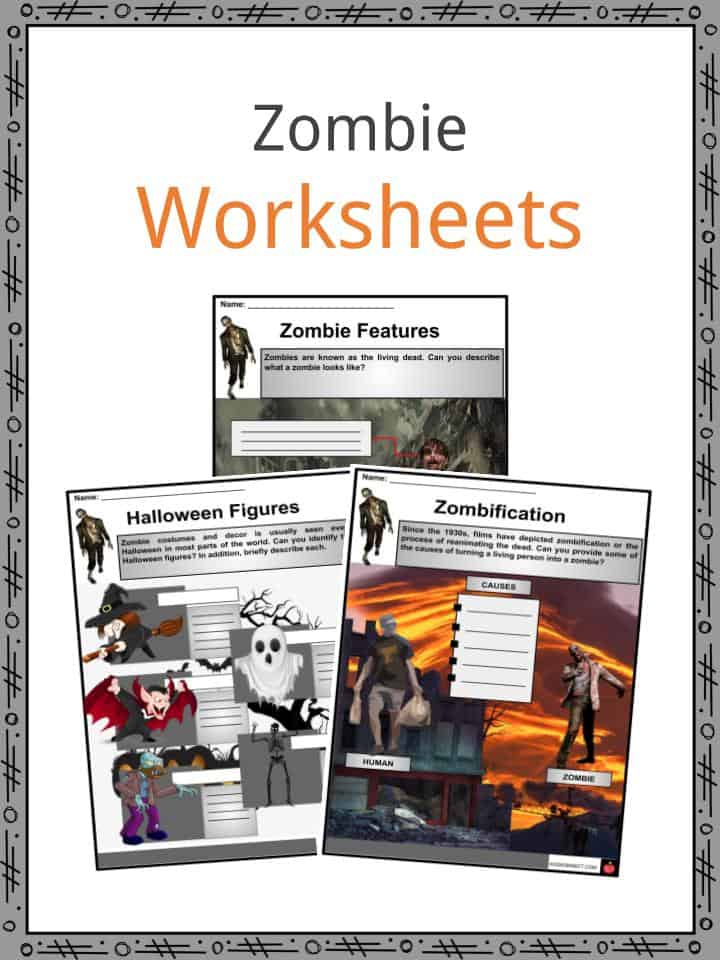 Zombie Facts, Worksheets, Etymology, Folklore & Features For Kids