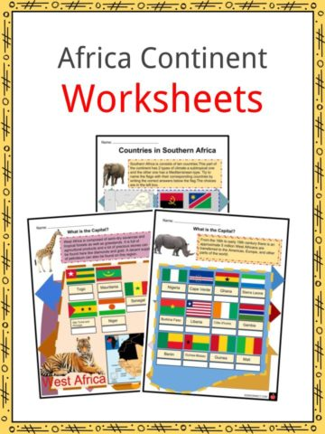 Africa Continent Worksheets