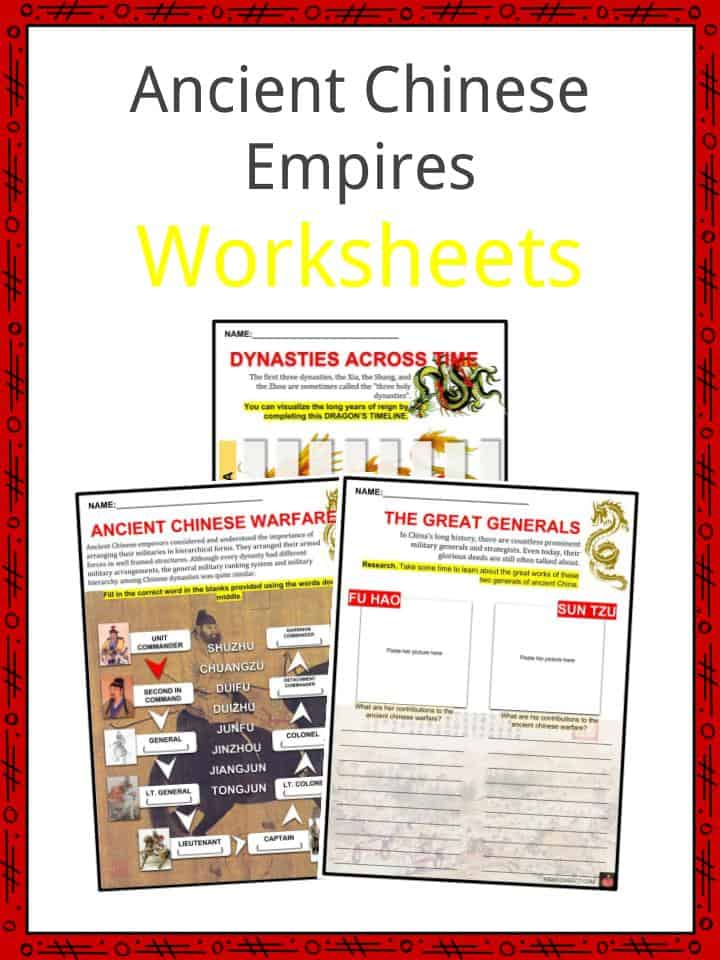 Ancient Chinese Empires Worksheets