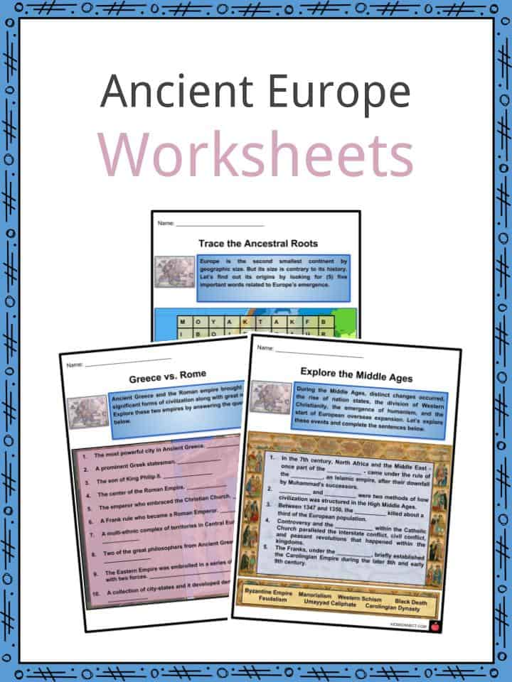 Ancient Europe Worksheets