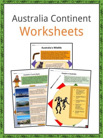 Australia Continent Worksheets