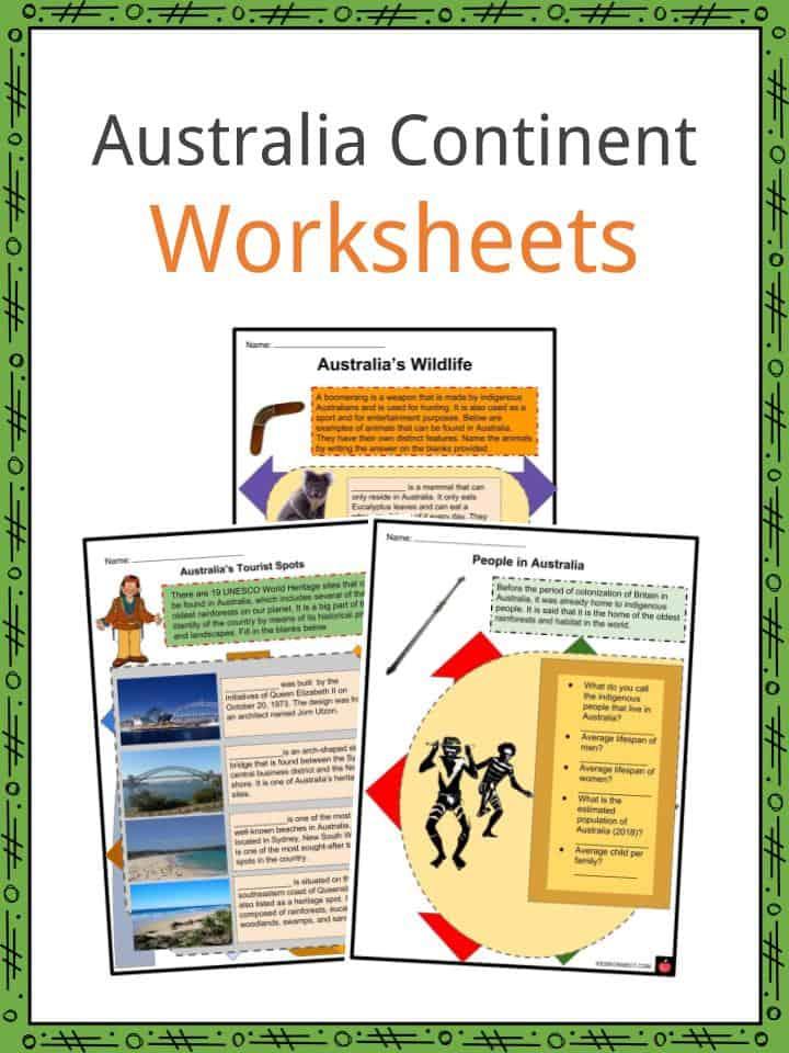 Australia Continent Worksheets