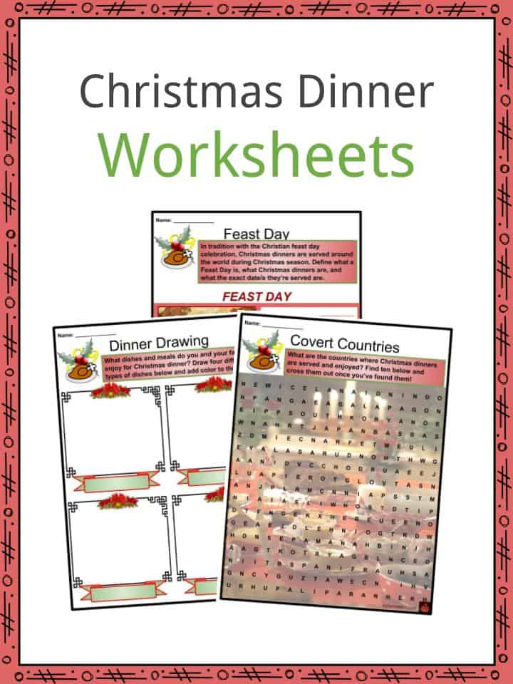 Christmas Around The World Worksheets.Christmas Dinner Facts Worksheets Traditions Differences