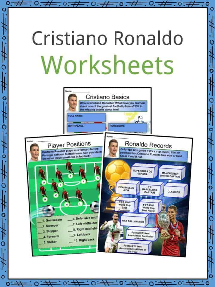 Cristiano Ronaldo Facts Worksheets Career Awards