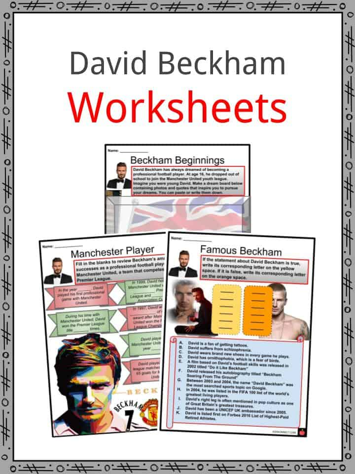 David Beckham Worksheets