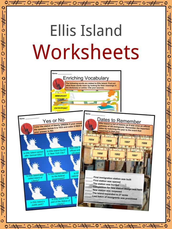 Ellis Island Worksheets