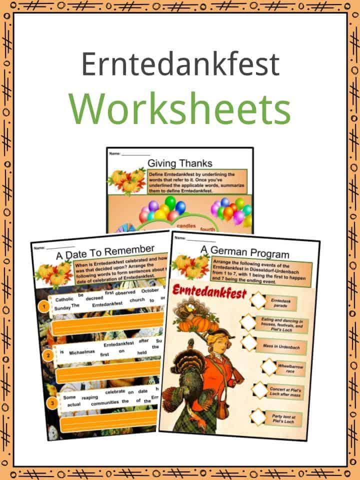 Erntedankfest Worksheets