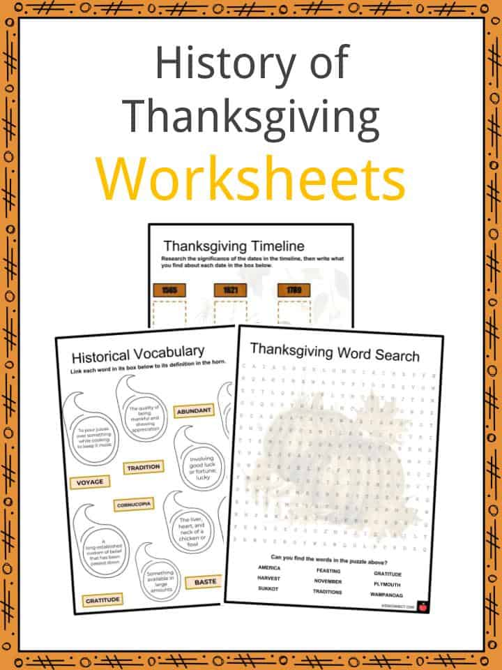 history of thanksgiving facts worksheets origins misconception kids. Black Bedroom Furniture Sets. Home Design Ideas