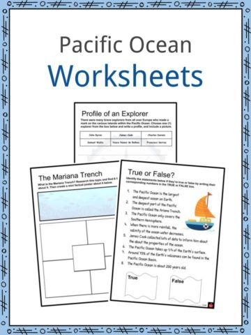 Pacific Ocean Worksheets