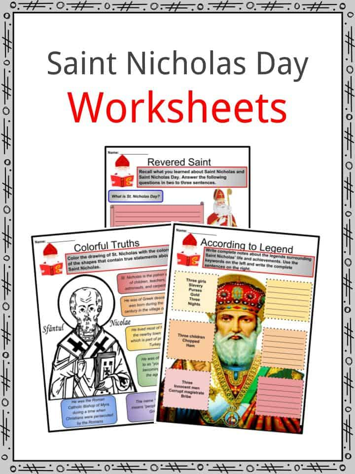 image regarding Legend of the Christmas Spider Printable titled Saint Nicholas Working day Details,Worksheets, Existence, Background