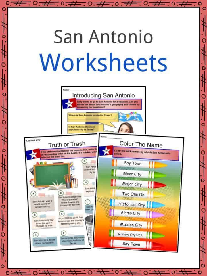San Antonio Worksheets