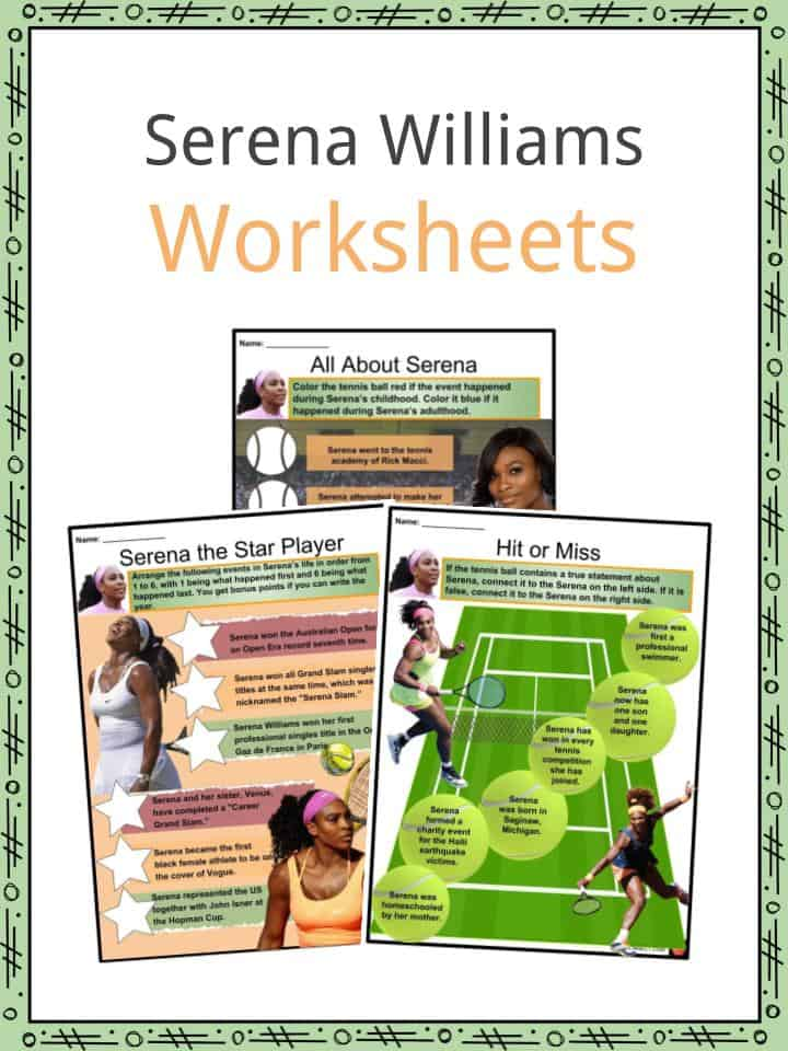 Serena Williams Worksheets