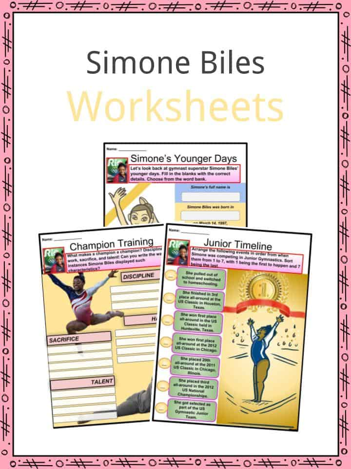 Simone Biles Worksheets