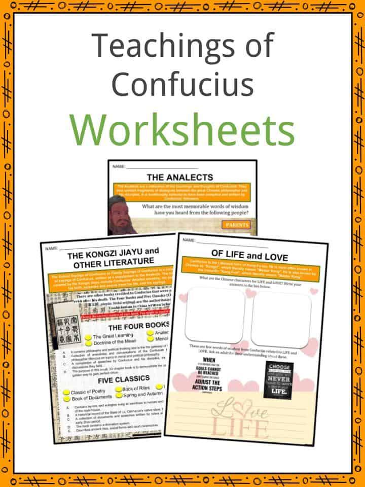 Teachings of Confucius Worksheets