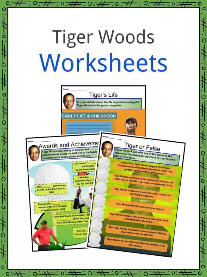Tiger Woods Worksheets