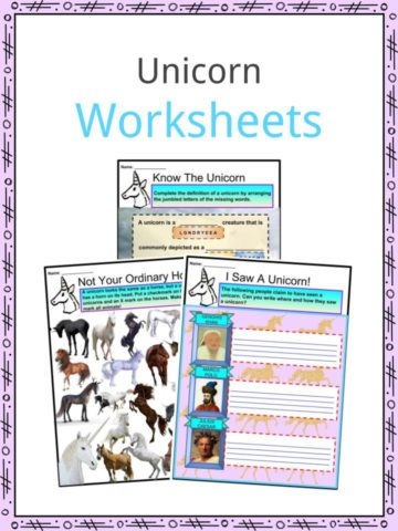 Unicorn Worksheets