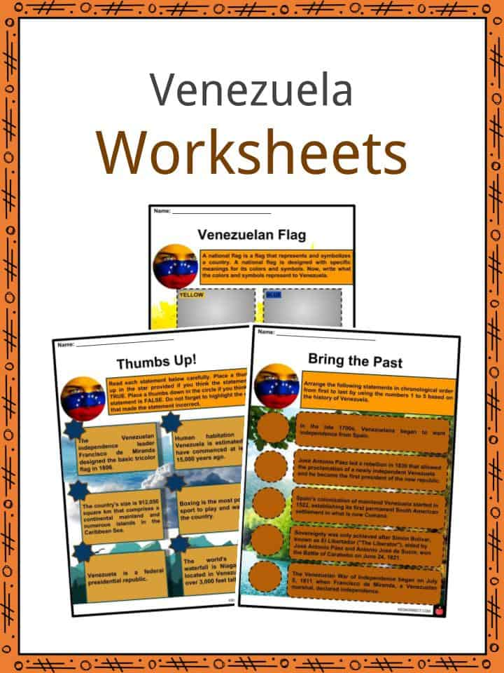 Venezuela Worksheets