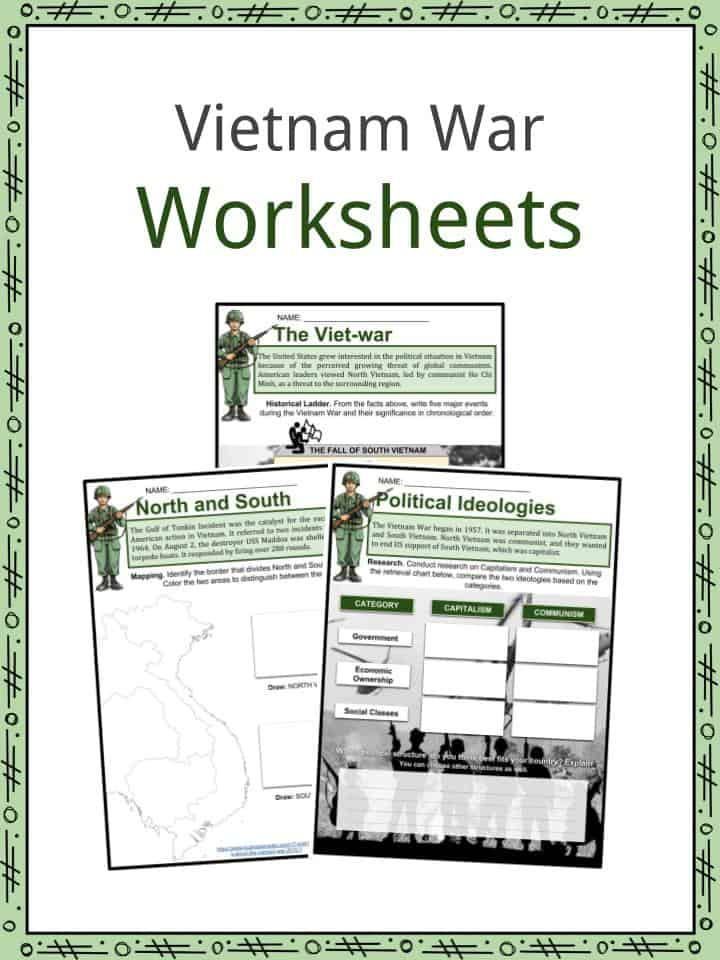 Vietnam War Facts, Worksheets, History, Start, End & Involvement Kids