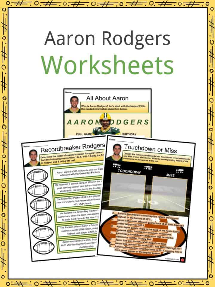 Aaron Rodgers Worksheets