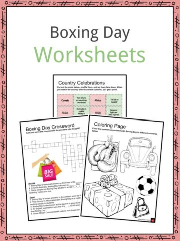 Boxing Day Worksheets