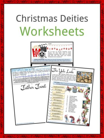 Christmas Deities Worksheets