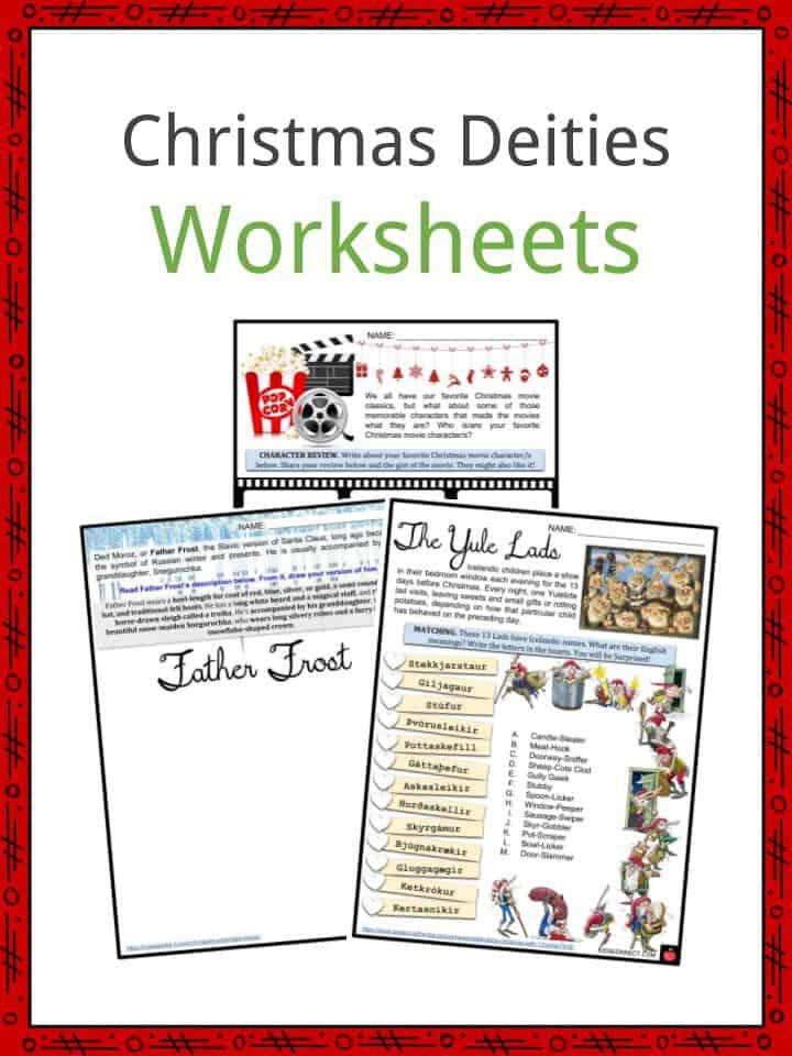 Christmas Deities Worksheets