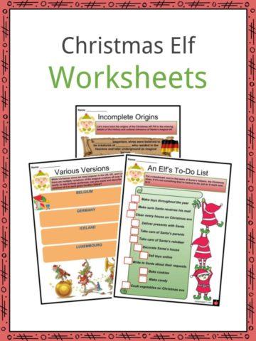 Christmas Elf Worksheets