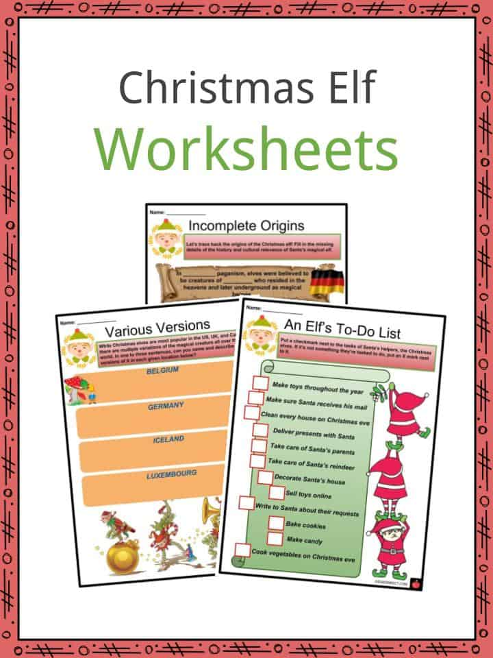 Christmas Elf Worksheets