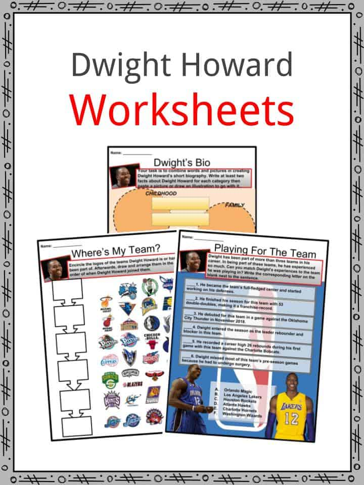 Dwight Howard Worksheets